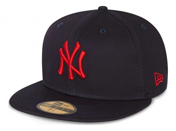 New Era - MLB New York Yankees League Essential 59Fifty Fitted Cap - Blau Ansicht vorne schräg links