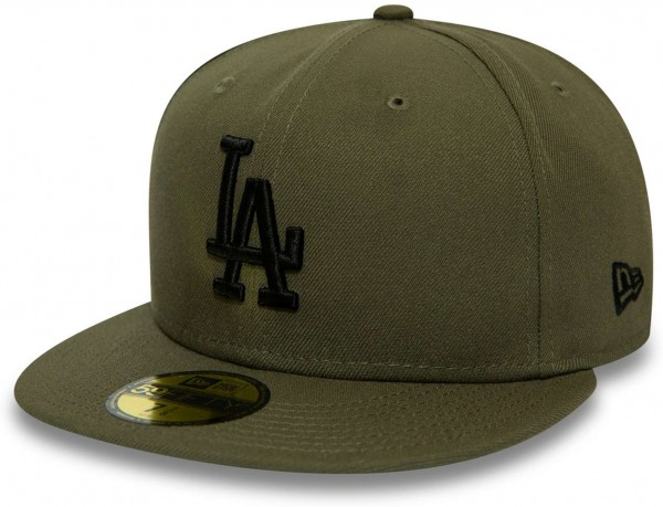 New Era - MLB Los Angeles Dodgers Essential 59Fifty Fitted Cap - Grün Ansicht vorne links