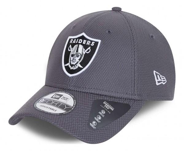 New Era - NFL Las Vegas Raiders Diamond Era 9Forty Strapback Cap - Grau Ansicht vorne schräg links