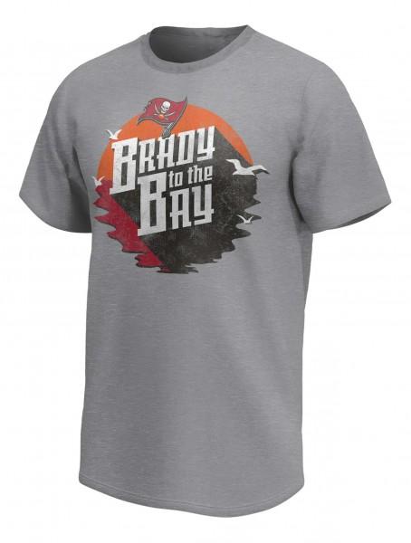 Fanatics - NFL Tampa Bay Buccaneers Tom Brady To The Bay Graphic T-Shirt - Grau Vorderansicht