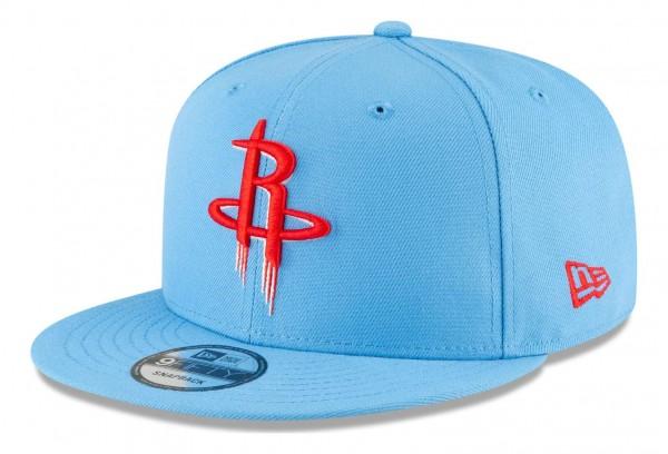 New Era - NBA Houston Rockets 2020 City Series Alternate 9Fifty Snapback Cap - Blau Ansicht vorne schräg links
