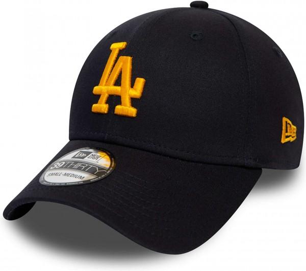 New Era - MLB Los Angeles Dodgers League Essential 39Thirty Stretch Cap - Blau Ansicht schräg vornelinks