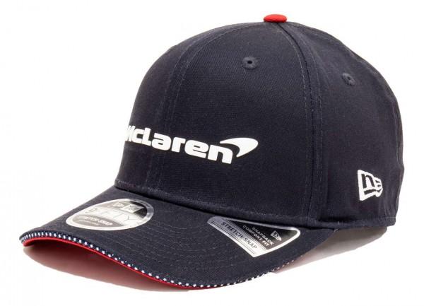 New Era - McLaren Spoecial Edition USA 9Fifty Stretch Snapback Cap - Blau Ansicht vorne schräg rechts