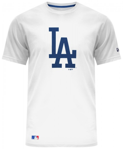 New Era - MLB Los Angeles Dodgers Essential T-Shirt - Weiß Vorderansicht