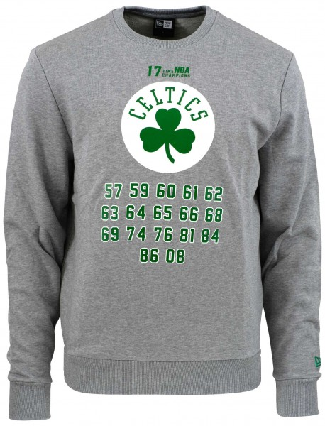 New Era - NBA Boston Celtics Team Champion Sweatshirt - Grau Vorderansicht
