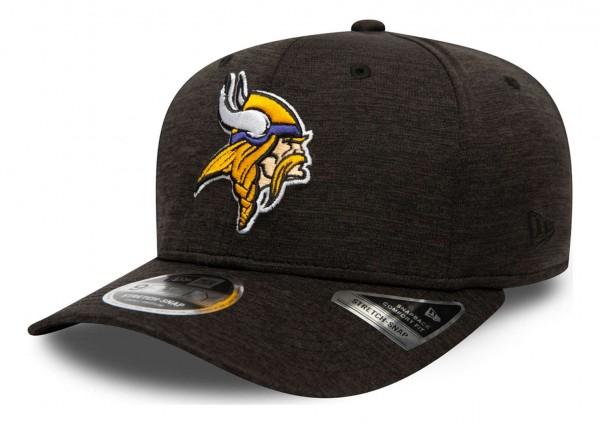 New Era - NFL Minnesota Vikings Total Shadow Tech 9Fifty Stretch Snapback Cap - Grau Ansicht vorne schräg links