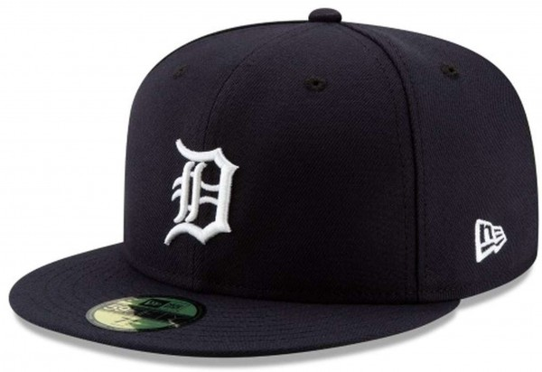 New Era - MLB Detroit Tigers Authentic Collection On-Field Home 59Fifty Fitted Cap - Blau Ansicht vorne schräg links