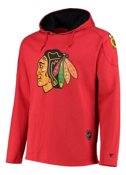 Fanatics - NHL Chicago Blackhawks Franchise Overhead Hoodie - Rot Vorderansicht
