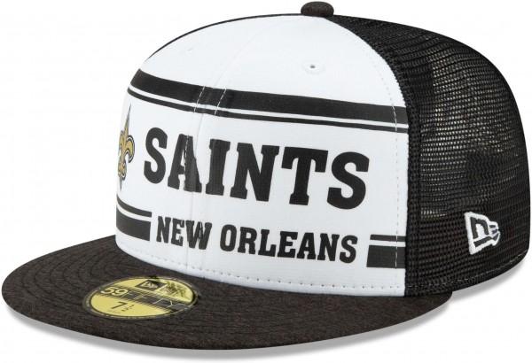 New Era - NFL New Orleans Saints On Field 2019 Sideline Home 59Fifty Fitted Cap - Mehrfarbig Ansicht schräg links