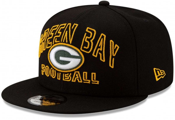 New Era - NFL Green Bay Packers 2020 Draft Alternative 9Fifty Snapback Cap - Schwarz Ansicht vorne schräg links