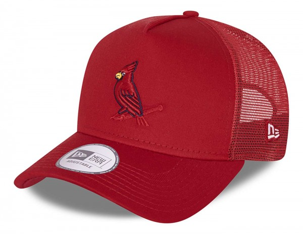 New Era - MLB St. Louis Cardinals Team Elemental Trucker Snapback Cap - Rot Ansicht vorne schräg links