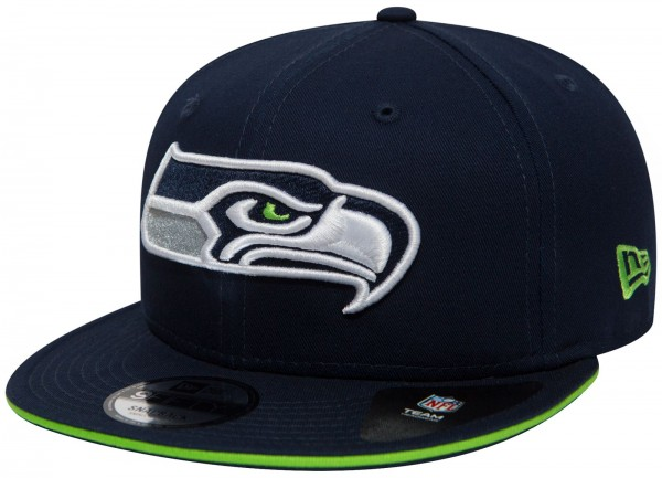 New Era - NFL Seattle Seahawks Team Team 9Fifty Snapback Cap - Blau Seitenansicht