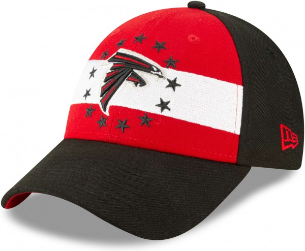 New Era - NFL Atlanta Falcons Draft 2019 On-Stage 9Forty Strapback Cap - Schwarz Ansicht schräg links