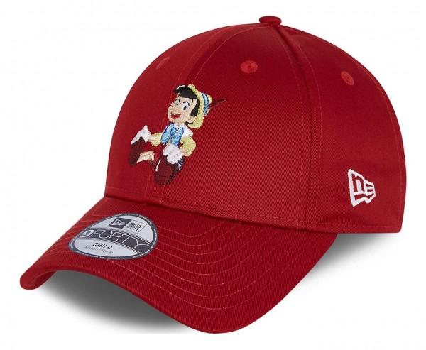 New Era - Pinocchio Film Character 9Forty Kids Strapback Cap - Rot Ansicht vorne schräg links