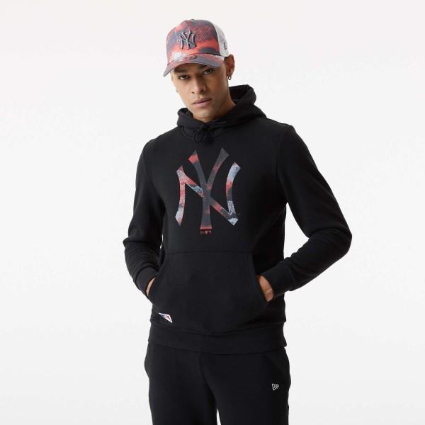 New Era - MLB New York Yankees Infill Logo Hoodie - Schwarz Vorderansicht