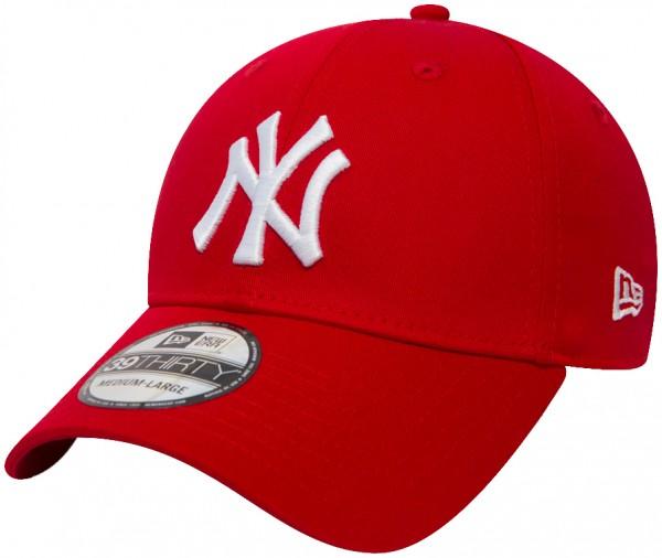 New Era - MLB New York Yankees Essential 39Thirty Cap - Rot-Weiß