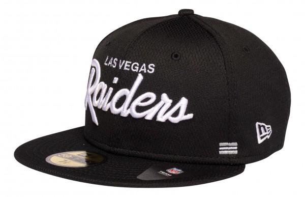 New Era - NFL Las Vegas Raiders OnField 2020 Sideline Home 59Fifty Fitted Cap - Schwarz Ansicht vorne schräg links