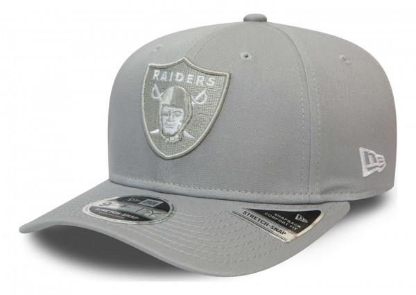 New Era - NFL Las Vegas Raiders League Essential 9Fifty Stretch Snapback Cap - Grau Ansicht vorne schräg links