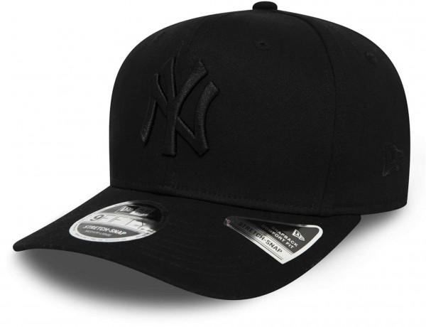 New Era - MLB New York Yankees Tonal Black 9Fifty Stretch Snapback Cap - Schwarz Ansicht vorne schräg links