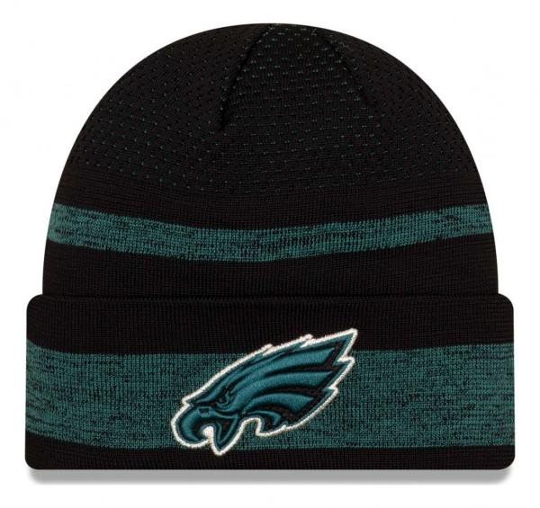 New Era - NFL Philadelphia Eagles 2021 Tech Knit Beanie - Mehrfarbig Vorderansicht