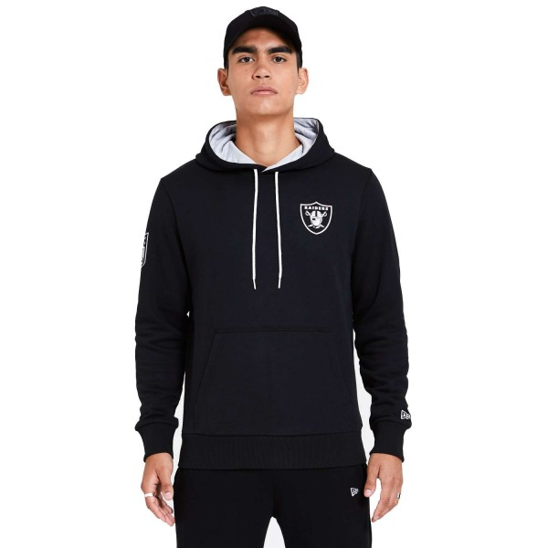 New Era - NFL Las Vegas Raiders Chest Print Team Logo Hoodie - Schwarz Vorderansicht
