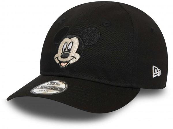 New Era - Disney Mickey Mouse Character 9Forty Kids Strapback Cap - Schwarz Ansicht vorne schräg links