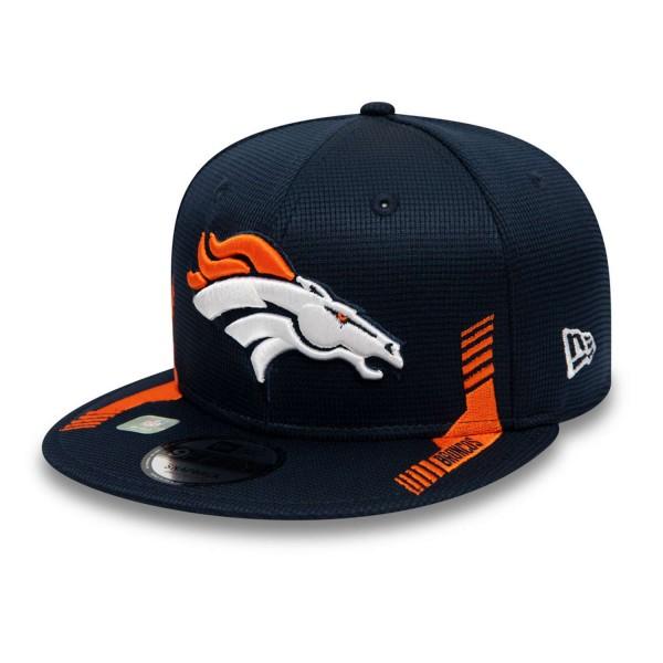New Era - NFL Denver Broncos 2021 Sideline Home 9Fifty Snapback Cap - Blau Ansicht vorne schräg links