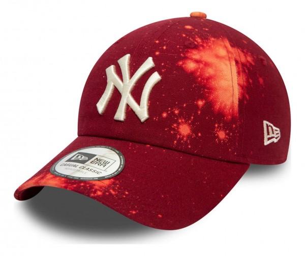 New Era - MLB New York Yankees Wash Canvas Casual Classic 9Twenty Strapback Cap - Schwarz Ansicht vorne schräg links