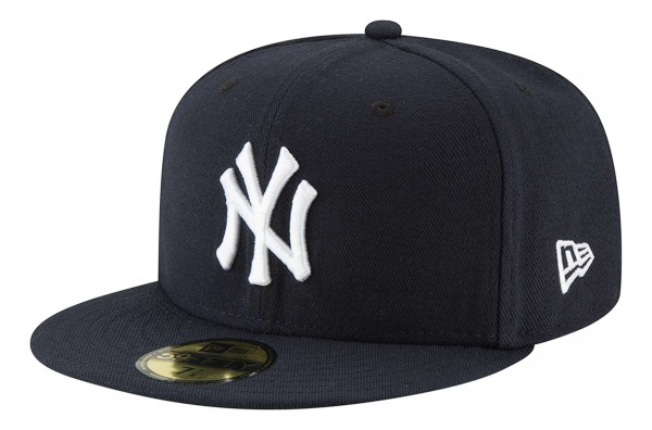 New Era - MLB New York Yankees Authentic Collection EMEA 59Fifty Fitted Cap - Blau Ansicht vorne schräg links