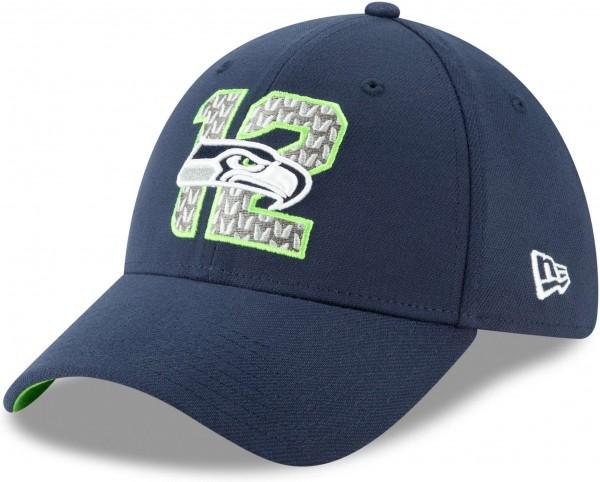 New Era - NFL Seattle Seahawks Draft 2019 On-Stage 39Thirty Stretch Cap - Blau