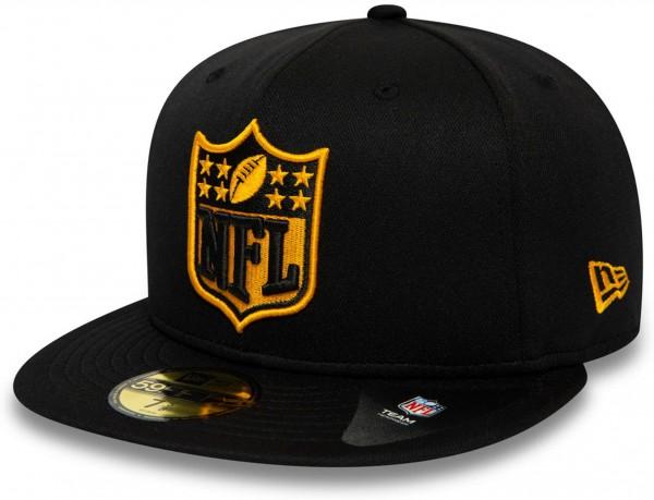 New Era - NFL Pittsburgh Steelers 59Fifty Fitted Cap - Schwarz Ansicht vorne schräg links