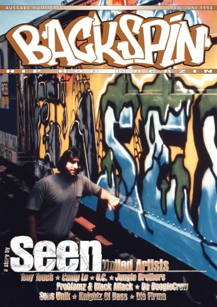 Auf dem Bild ist das Cover zu sehen der BACKSPIN Printausgabe Nummer 11