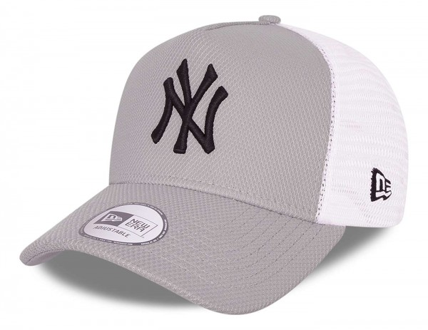 New Era - MLB New York Yankees Diamond Era Trucker Snapback Cap - Grau Ansicht vorne schräg links