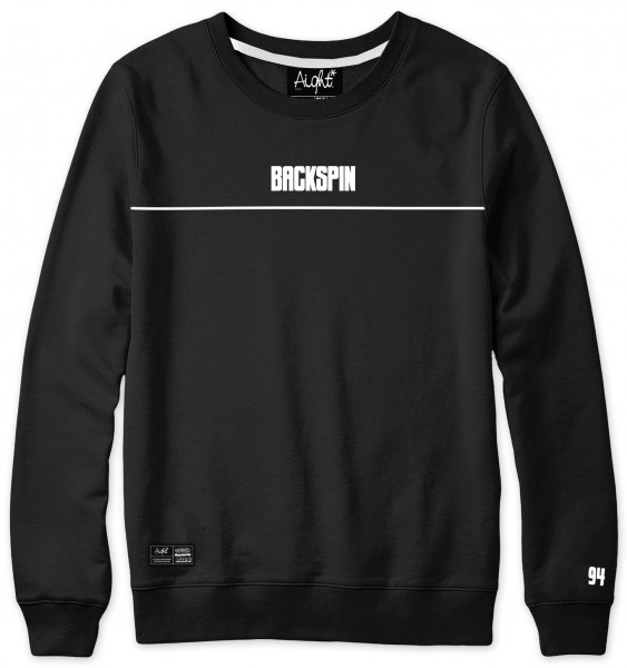 Aight* x Backspin Sweatshirt - 25 Years Icon Lined - Schwarz