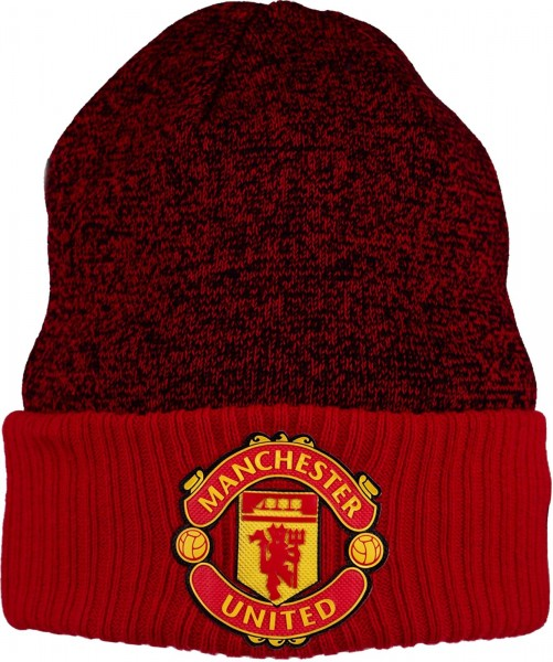New Era - Manchester United Rib Cuff Beanie - red