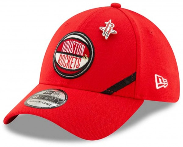 New Era - NBA Houston Rockets 2019 Draft 39Thirty Stretch Cap - Rot