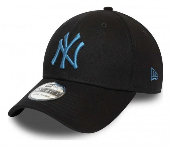 New Era - MLB New York Yankees League Essential 39Thirty Stretch Cap - Schwarz Ansicht vorne schräg rechts