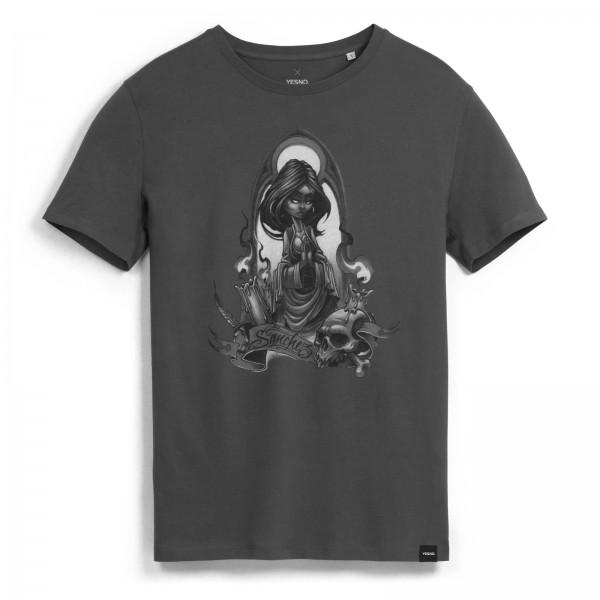 YESNO - Paco Sanchez Maria Oscura T-Shirt - Grau