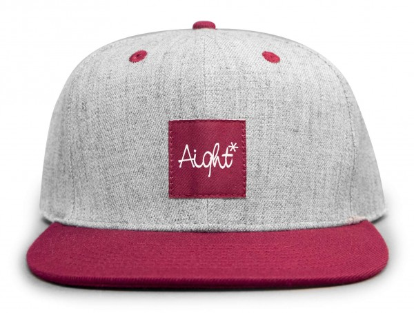 Aight* - OG Logo Patch Snapback Cap - Grau Vorderansicht