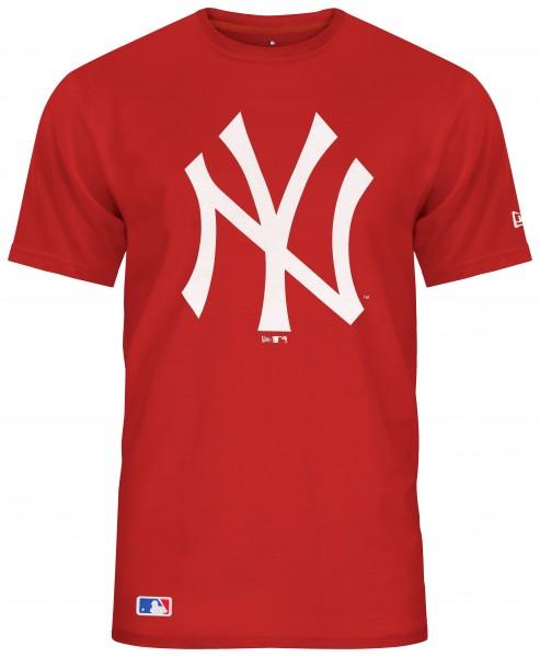 New Era - MLB New York Yankees Team Logo T-Shirt - Rot Vorderansicht
