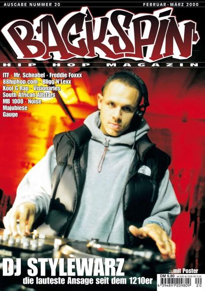 Auf dem Bild ist das Cover zu sehen der BACKSPIN Printausgabe Nummer 20