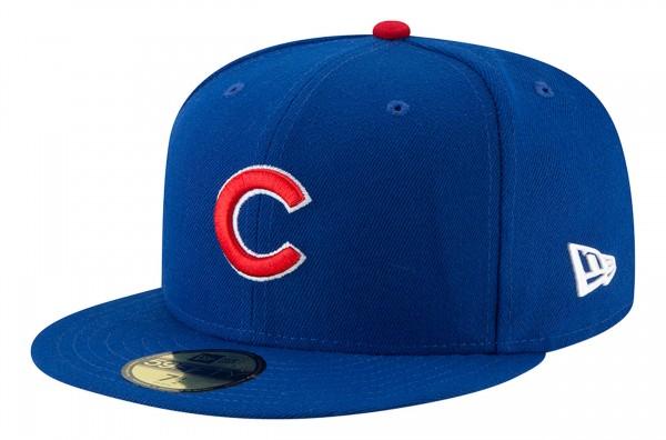 New Era - MLB Chicago Cubs Authentic Collection EMEA 59Fifty Fitted Cap - Blau Ansicht vorne schräg links