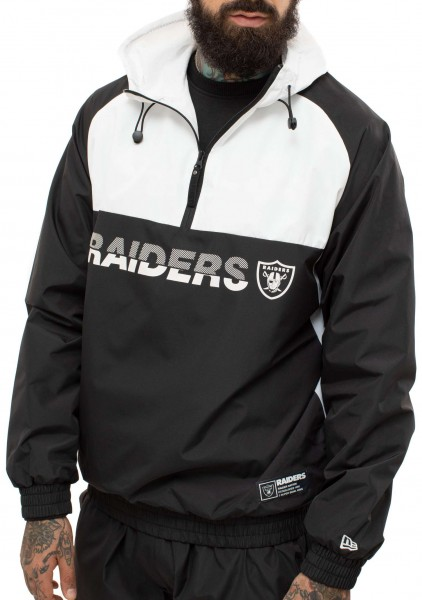 New Era - NFL Oakland Raiders Colour Block Windbreaker Jacke - Mehrfarbig Ansicht schräg links