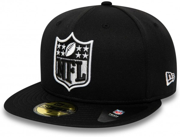 New Era - NFL Oakland Raiders 59Fifty Fitted Cap - Schwarz Ansicht vorne schräg links
