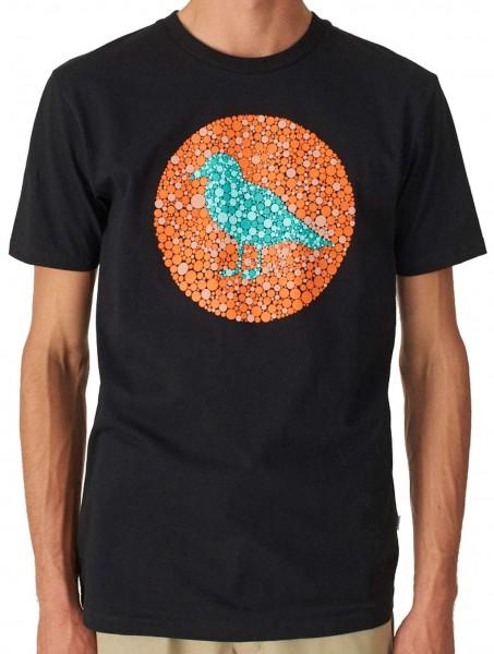 Cleptomanicx - Daltonism Gull Basic T-Shirt - Schwarz Vorderansicht