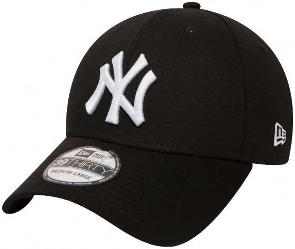 New Era - MLB New York Yankees Essential 39Thirty Cap - Schwarz-Weiß