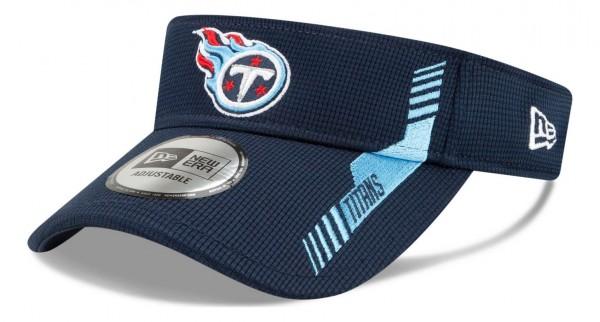 New Era - NFL Tennessee Titans 2021 Sideline Home Visor - Blau Ansicht vorne schräg links