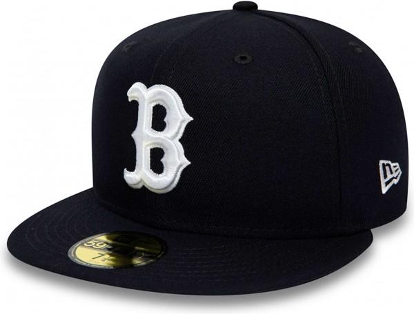 New Era - MLB Boston Red Sox League Essential 59Fifty Fitted Cap - Blau Ansicht schräg vornelinks
