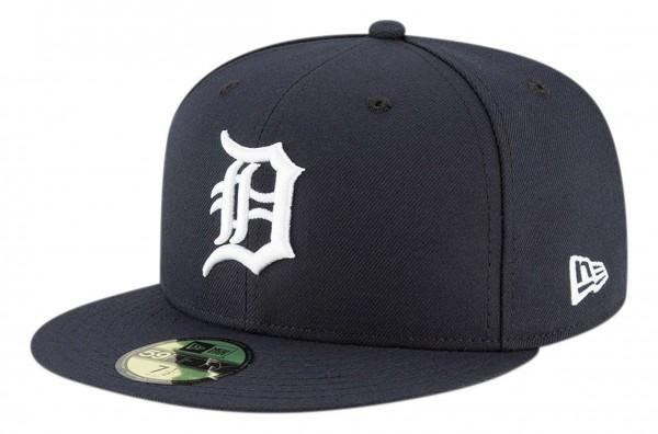 New Era - MLB Detroit Tigers Authentic Collection EMEA 59Fifty Fitted Cap - Blau Ansicht vorne schräg links