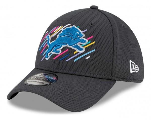 New Era - NFL Detroit Lions 2021 Crucial Catch 39Thirty - Grau Ansicht vorne schräg links